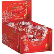 Lindt LINDOR Chocolate Truffles, Milk Chocolate, 60 Truffles/Box