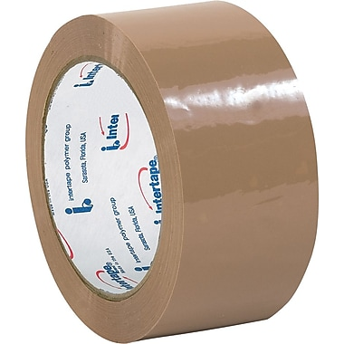 Staples Intertape® 130 Carton Sealing Tape, Tan, 2in. x 110 yds., 36/Case