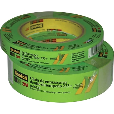 3M™ #233+ Scotch® Premium Masking Tape, 3in.x60yds., 8/Pack