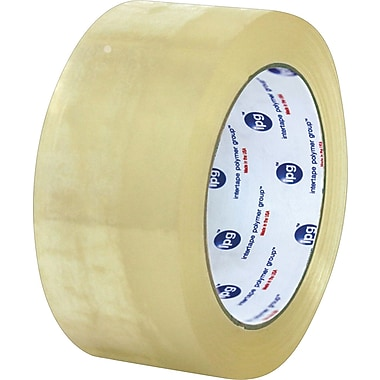 Staples Intertape® 130 Carton Sealing Tape, Clear, 3in. x 125 yds., 24/Case