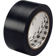 3M™ #764 Solid Vinyl Tape, Black, 2x36yds., 24/Case