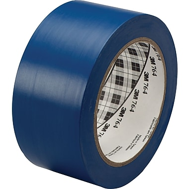 3M™ #764 Solid Vinyl Tape, Blue, 2in.x36yds., 24/Case