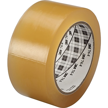 3M™ #764 Solid Vinyl Tape, Clear, 1in.x36yds., 36/Case