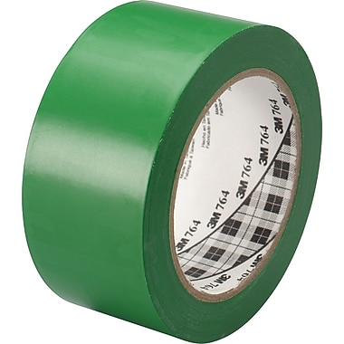 3M™ #764 Solid Vinyl Tape, Green, 1in.x36yds., 36/Case