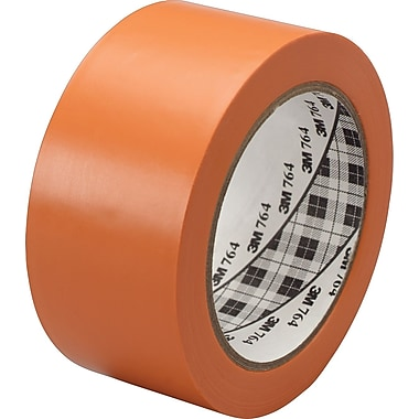 3M™ #764 Solid Vinyl Tape, Orange, 1in. x 36 yds., 36/Case
