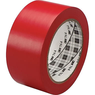 3M™ #764 Solid Vinyl Tape, Red, 1in. x 36 yds., 36/Case