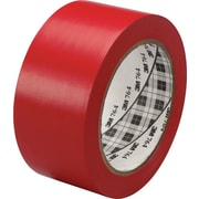 3M™ #764 Solid Vinyl Tape, Red, 2x36yds., 24/Case