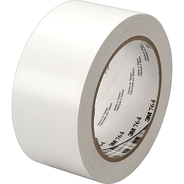 3M™ #764 Solid Vinyl Tape, White, 1in. x 36 yds., 36/Case
