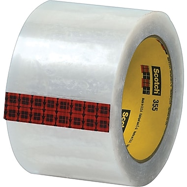Scotch® #355 Hot Melt Packaging Tape, 3in. x 55 Yards, Clear, 6/Pack