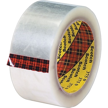 Scotch® #375 Hot Melt Packaging Tape, 2in. x 55 yds., Clear, 36/Case
