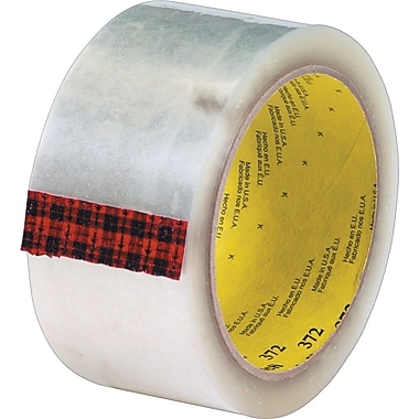 3M #372 Hot Melt Packaging Tape, 2in. x 110 yds., Clear, 36/Case