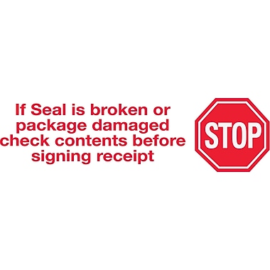 2in. x 110 yds. - in.Stop If Seal Is Brokenin. Tape Logic™ Pre-Printed Carton Sealing Tape, 36/Case