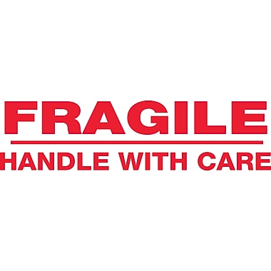 2in. x 110 yds. - in.Fragile Handle With Carein. Tape Logic™ Pre-Printed Carton Sealing Tape, 36/Case