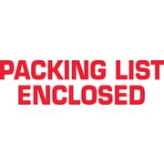 2 x 110 yds. - Packing List Enclosed Tape Logic™ Pre-Printed Carton Sealing Tape, 36/Case