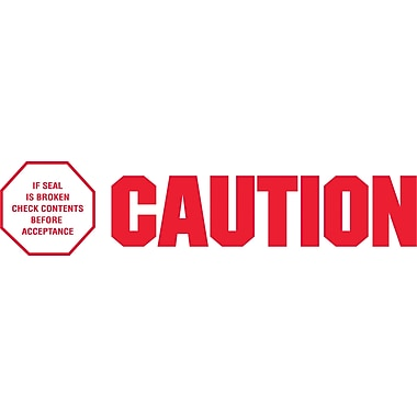 2in. x 110 yds. - in.Caution - If Seal Is Broken...in. Tape Logic™ Pre-Printed Carton Sealing Tape, 36/Case