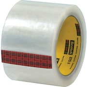 "Scotch® #375 Hot Melt Packing Tape, 3"" x 55 yds., Clear, 24/Case"