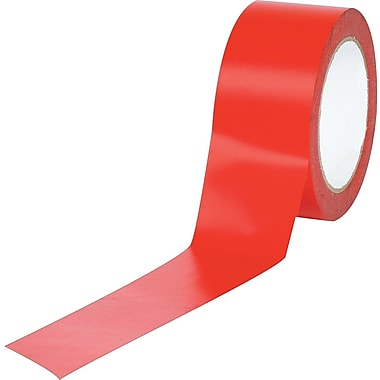 Industrial Vinyl Safety Tape, Solid Red, 3in. x 36yds., 16/Case