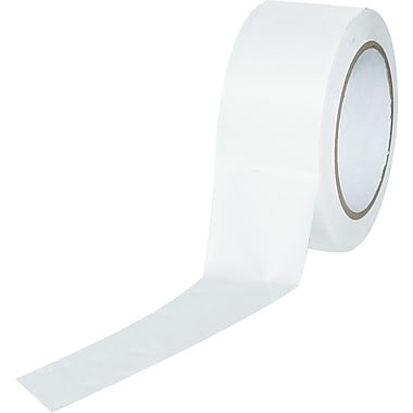 Industrial Vinyl Safety Tape, Solid White, 3in. x 36yds., 16/Case