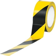 "Industrial Vinyl Safety Tape, Black/Yellow Striped, 2"" x 36yds., 24/Case"