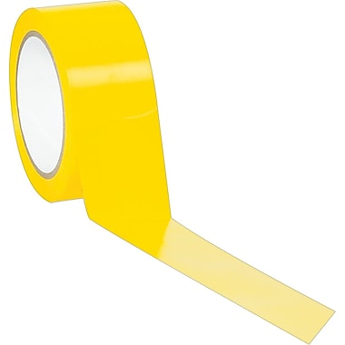 Industrial Vinyl Safety Tape, Solid Yellow, 3in. x 36yds., 16/Case