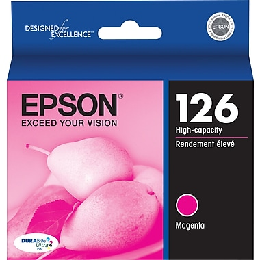 Epson® 126 Magenta Ink Cartridge, High-Yield (T126320)