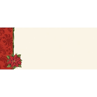 Great Papers® Poinsettia Damask #10 Envelopes