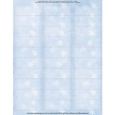 Great Papers® Winter Flakes Mailing Labels, 1in. x 2 5/8in.