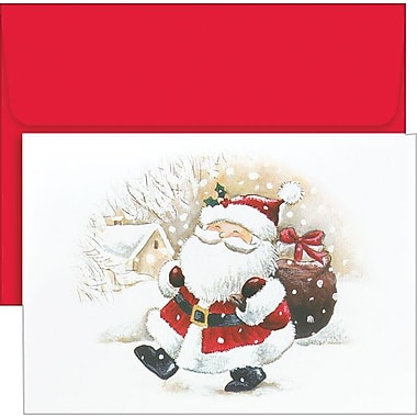 Great Papers® Happy Santa Holiday Card with Red Envelopes