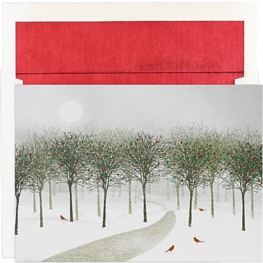 Great Papers® Wintry Park Holiday Card with White Red Foil Envelopes
