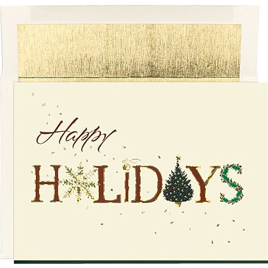 Great Papers® Gold Foil Holiday Card with White Gold Foil Envelopes