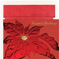 Great Papers® Red Foil Poinsettia Holiday Card with White Red Foil Envelopes