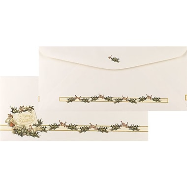 Vintage Christmas Holly #10 Envelopes