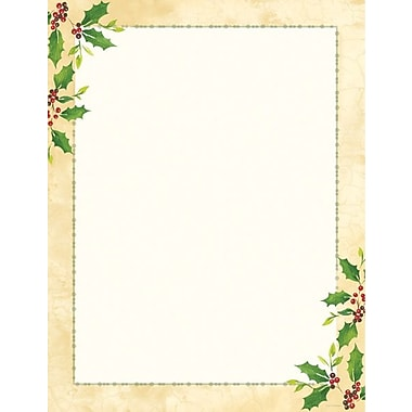 Falling Holly Stationery and Envelopes