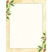 Great Papers® Holiday Stationery Falling Holly , 80/Count