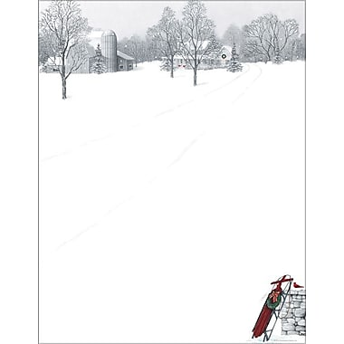 Great Papers® Winter Scene and Sled Stationery