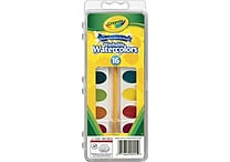 Crayola Washable Watercolor Set, 16 Assorted Colors, Oval Pan