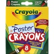 Crayola® Washable Poster Board Crayons, 8/Pack