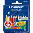 Staedtler Noris Club Color Pencil, 12 Color Half Size Set, 12/Bx