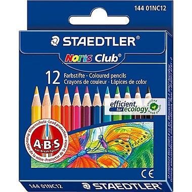Staedtler Noris Club Color Pencil, 12 Color Half Size Set, 12/Bx