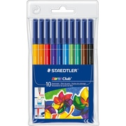 Staedtler® Noris Club® #326 Fiber-Tip Pens, Assorted, 10/Pack