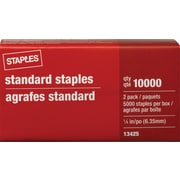 Staples® Standard Staples, 5,000/Box x 2 PK, 10,000 Count (13425-US)