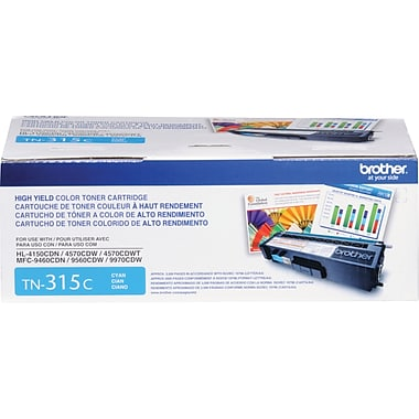 Brother Cyan Toner Cartridge, High Yield (TN-315C)