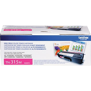 Brother TN-315M Magenta Toner Cartridge, High Yield