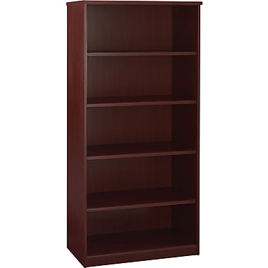 Bush Universal 36in.W 5-Shelf Bookcase, Harvest Cherry