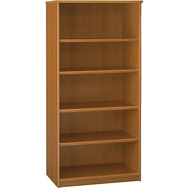 Bush Milano2 5-Shelf Bookcase, Golden Anigre