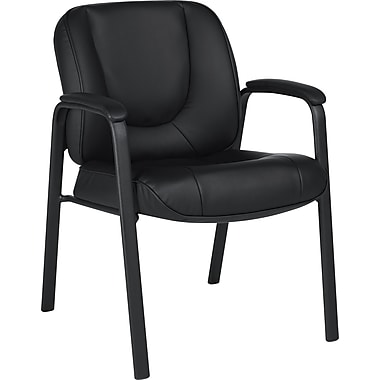Global® Luxhide Bonded Leather Guest Chair, Black