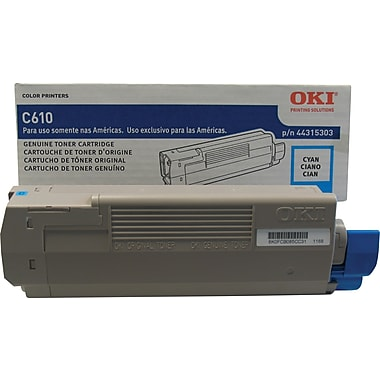 Okidata® 44315303 Cyan Toner Cartridge