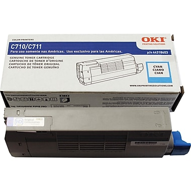Okidata® 44318603 Cyan Toner Cartridge