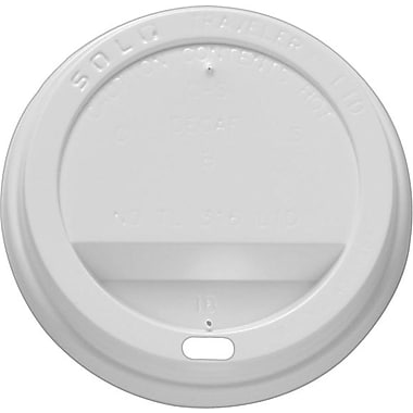 SOLO® White Traveler® Lids, 8 oz., 500/Case