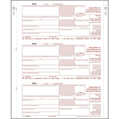 TOPS 1099A Tax Form, 1 Part, Federal - Copy A, White, 8 1/2in. x 11in., 50 Sheets/Pack